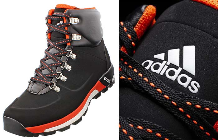 Adidas Boost Urban Hiker Boots with orange details