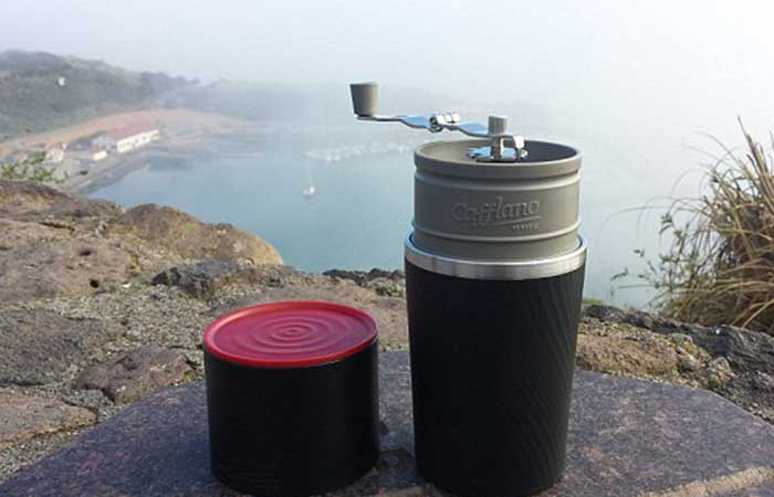 Cafflano portable coffee maker in nature