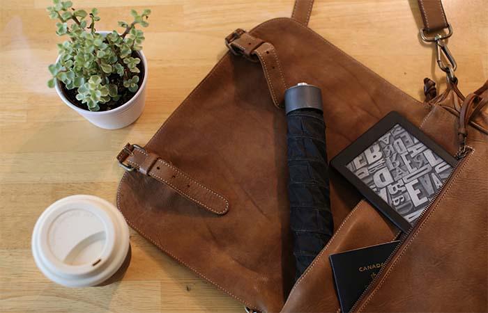 Cypress Umbrella folded in a bag