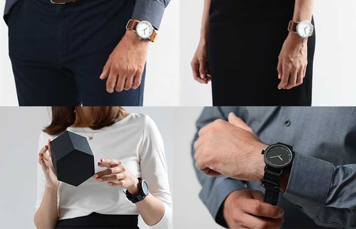 People wearing Divided by Zero watches