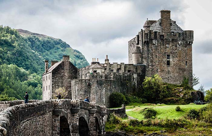 Eilean Donan and the bridge leading to it