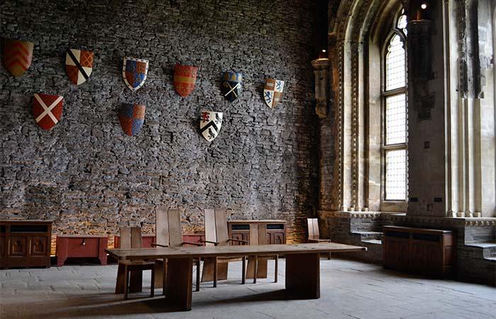 Caerphilly Castle inside
