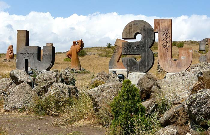 Armenia alphabet monument