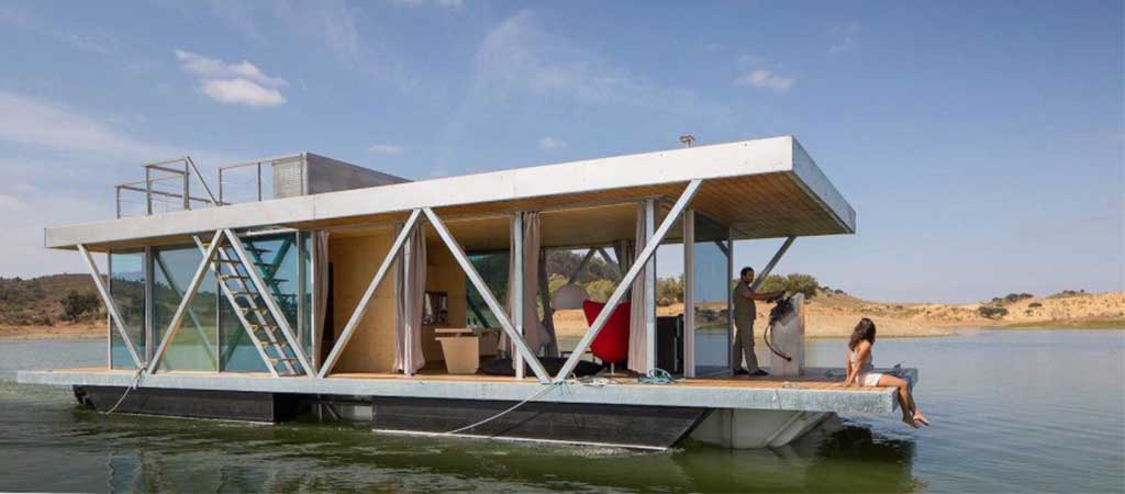 Modular floating weekend house by friday - Floating prefabricated home ...