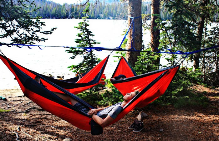 Hammocks connected to each other