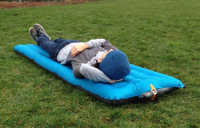 A guy on blue Windcatcher AirPad 2