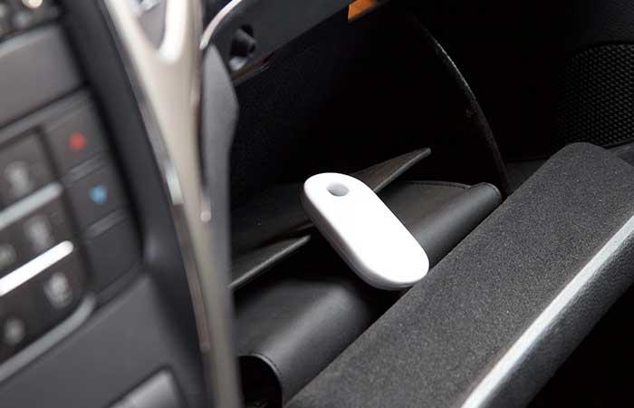 Yepzon GPS Locator placed inside a car