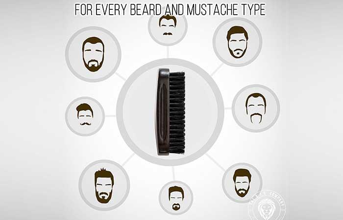 For every beard and mustache type: 100% Boar Bristle Beard Brush by B.I.G. Beard Balm
