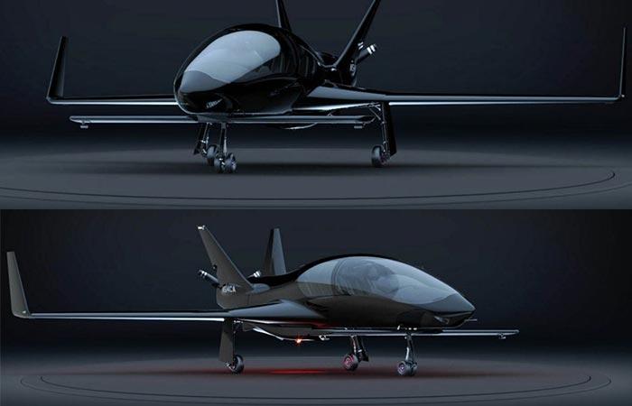 Valkyrie Private Aircraft black