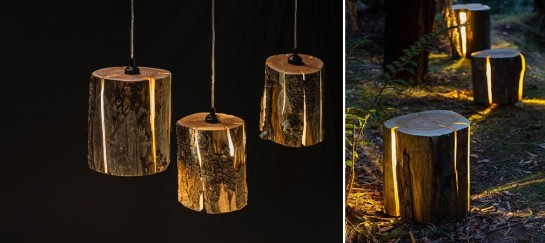 Cracked Log Lamps | By Duncan Meerding