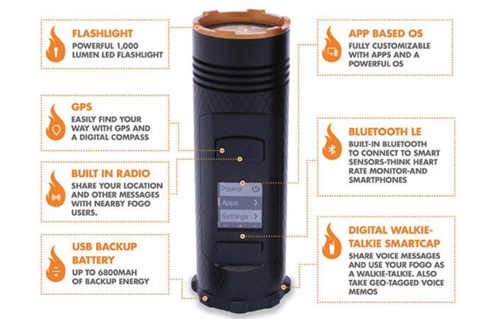 Features of Fogo Flashlight