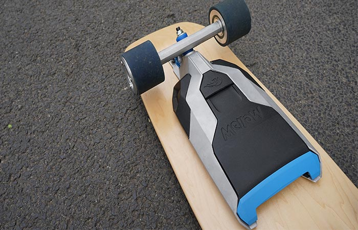 Mellow Drive Electric Skateboard On The Ground