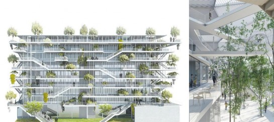 Open Concept Green Office Building In France | By NL*A Paris