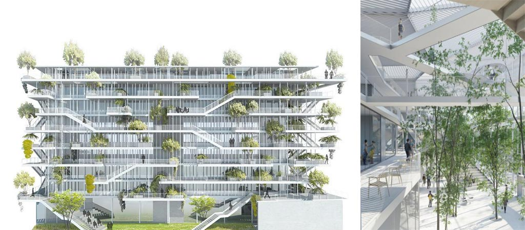 Open Concept Green Office Building In France