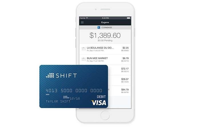 Blue Shift card photographed by iphone.