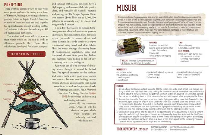 Pages from The Art of Eating through the Zombie Apocalypse: A Cookbook and Culinary Survival Guide