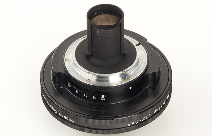 Nikon lens captured upside-down