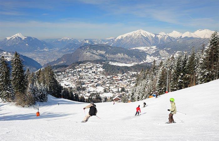 Les Carroz ski resort, France.