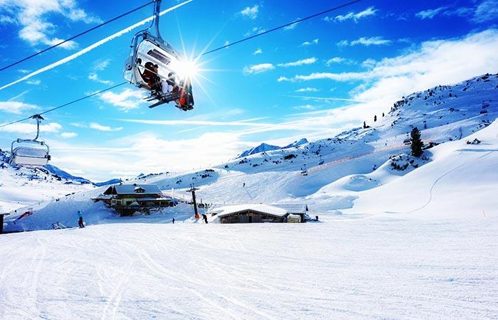 Livigno ski resort, Italy.