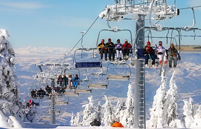 Kopaonik ski resort, Serbia, high-speed lifts.