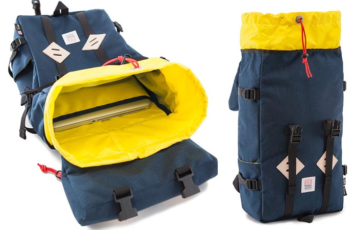 The liner and laptop sleeve in Topo Designs Klettersack Mountain Pack