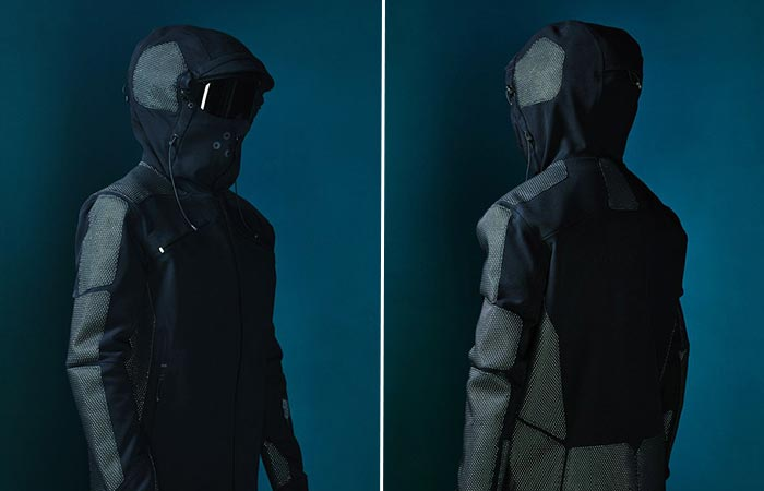 Vollebak Condition Black Jacket From The Front And Behind