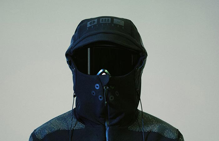Vollebak Condition Black Jacket With Helmet and Muzzle