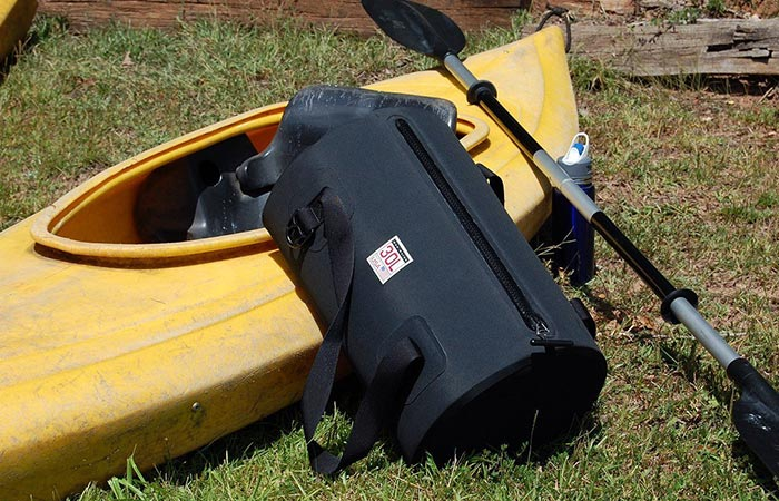 Bag photographed with the kayak.