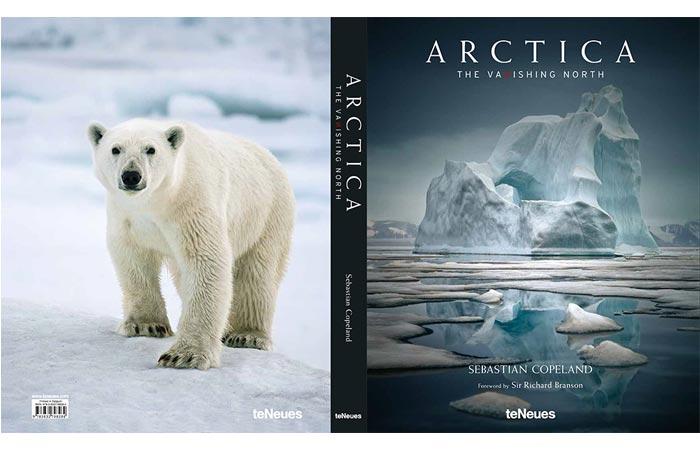 Arctica by Sebastian Copeland book cover.