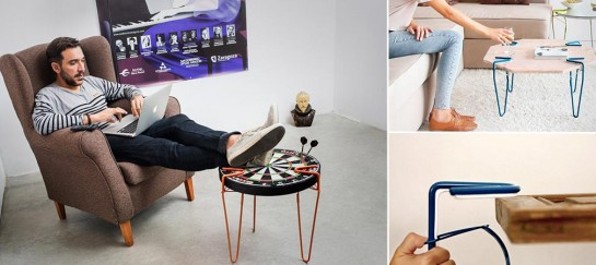 Be-elastic Snap Legs | Creates A Table Out Of Any Flat Surface