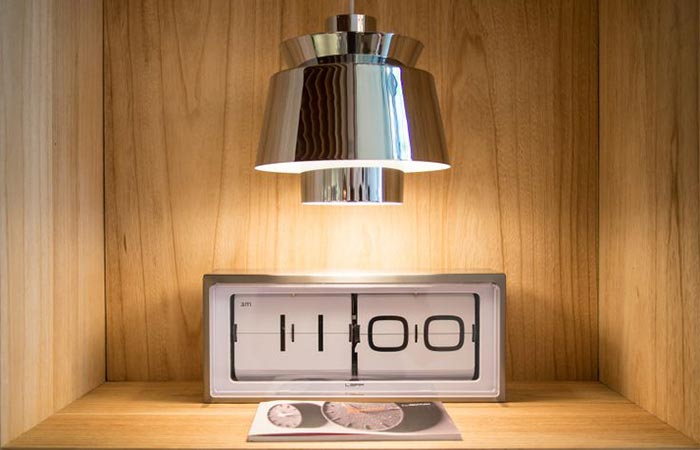 Brick Vintage Flip Clock White On The Table