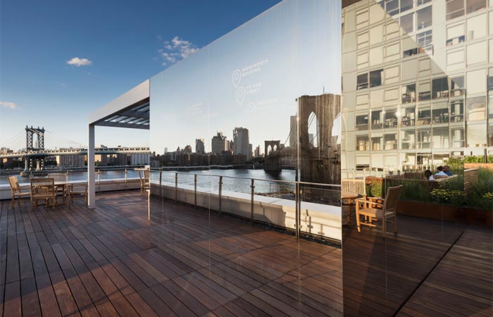 Brooklyn Apartment Building With Communal Roof Garden Mirrored Pavilion