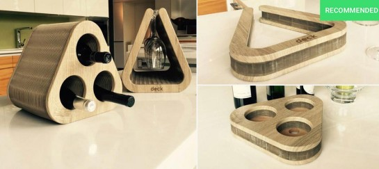 The Deck | Flexible Wine and Goblet Holder