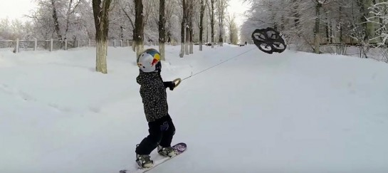 Droneboarding | Snowboarding With A Drone (VIDEO)