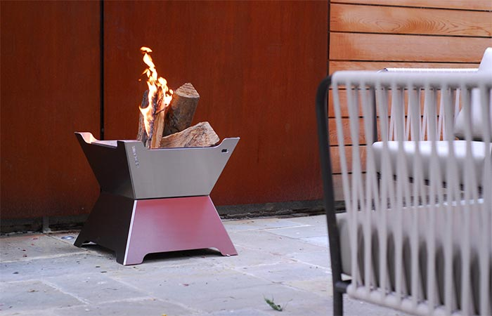 Funston Fire Pit Ice Chest Burning Wood