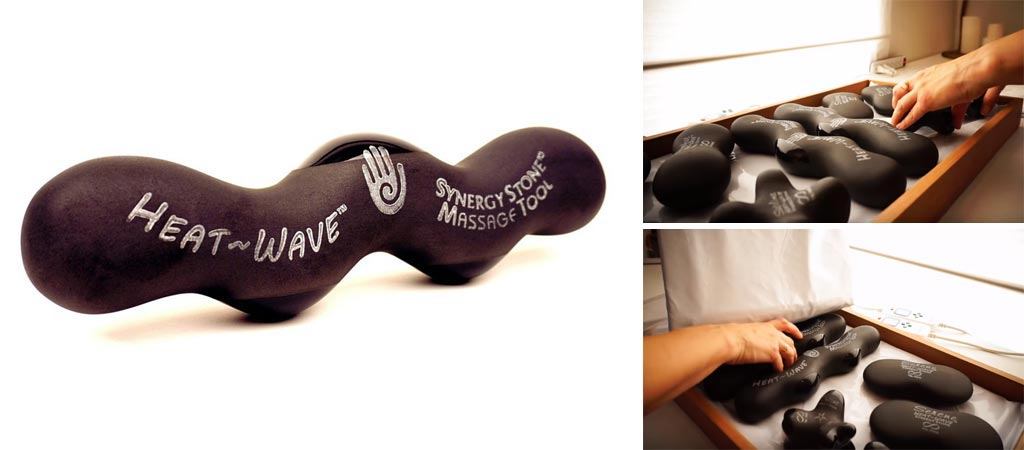 Heat-Wave Synergy Microwaveable Stone Massager