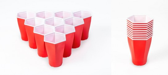 Hexcup | Hexagonal Beer Pong Cups