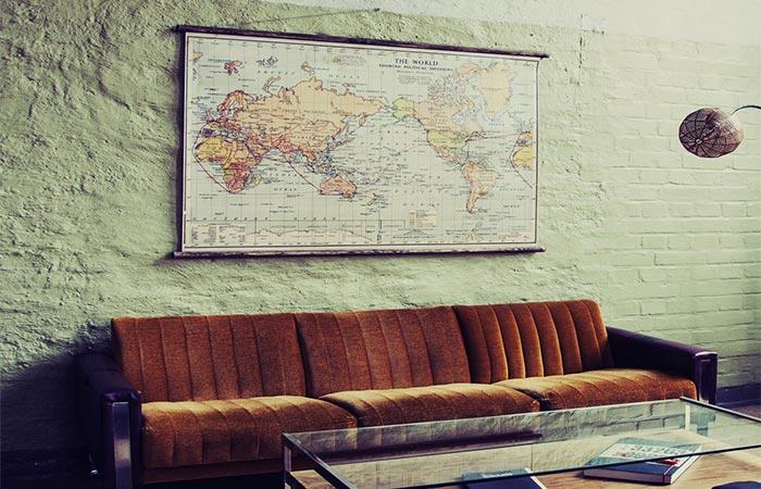 Erstwhile World Political Wall Map