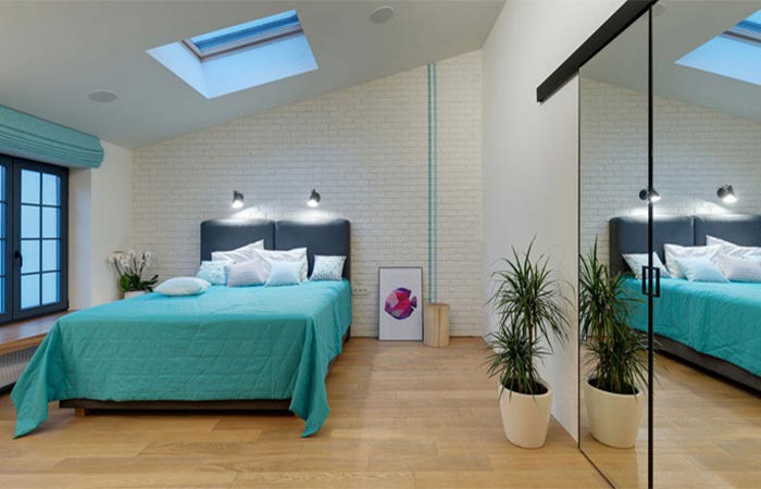 One Of The Bedrooms At Kharkiv Apartment