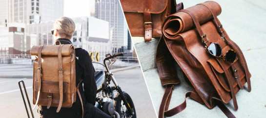 Leather Rolltop Backpack   By Johnny Fly Co.