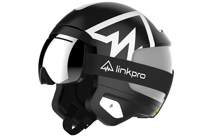 Black And Grey LinkPro Sports 'Explore1' Skiing Helmet