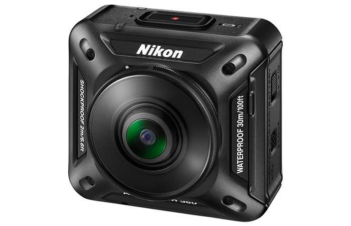 Camera photographed from the front.