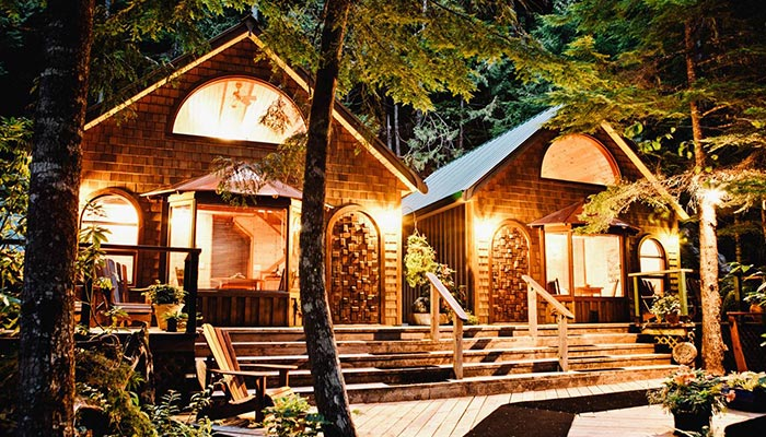 Nimmo Bay Resort Wooden Cabin