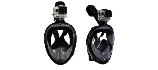 Octobermoon Full Face Snorkel/Scuba Mask With Gopro Camera Mount
