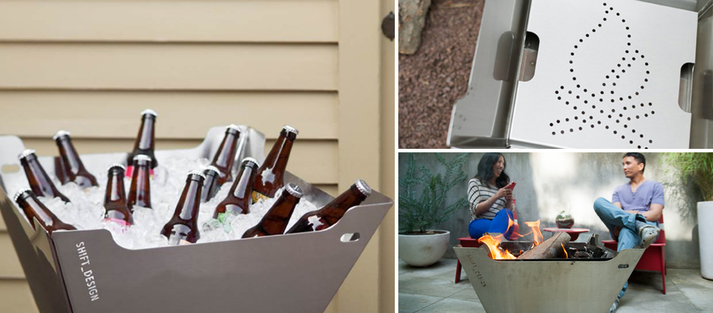 Funstone Fire Pit Ice Chest