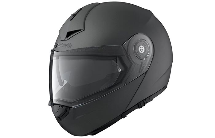 A black helmet captured from the side.