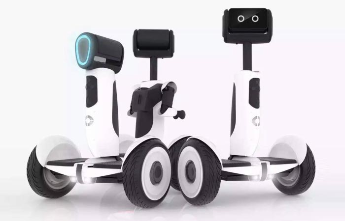 Segway Advanced Personal Robot, three different views on a module, on a white background.