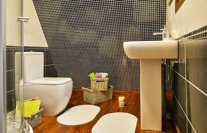 Bathroom timber floor