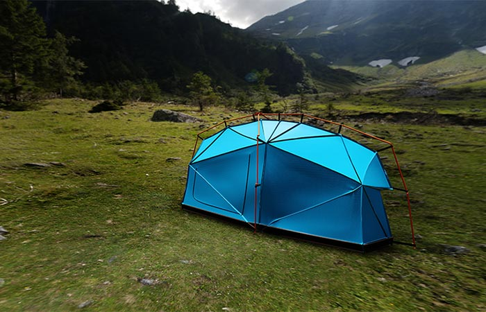 Bolt On Tent With Lighting Strike Protection