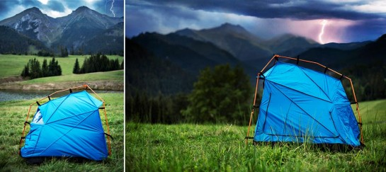 Tent With Lightning Strike Protection   By Kama Jania